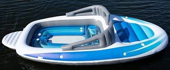 6-Person Inflatable Bay Breeze Boat Party Island