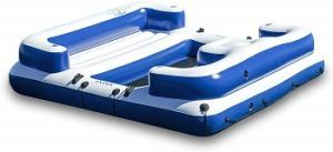 Inflatable Floating Island 5 Person Party Boat Raft