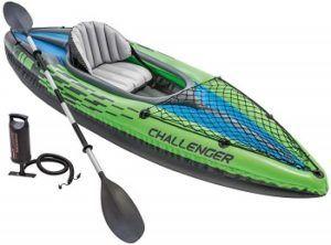 Intex Challenger K1 Kayak Fishing