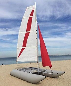 Generic Inflatable 1.2mm 4 Person Portable Sailboat