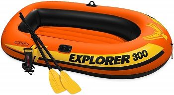 Intex Explorer 300, 3-Person Inflatable Boat Set